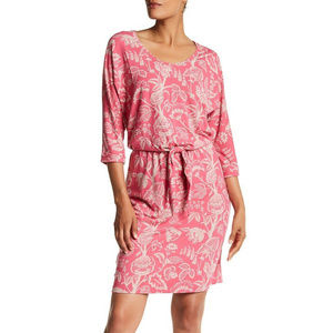 Tommy Bahama Copyrighted Print Jersey Tie Dress